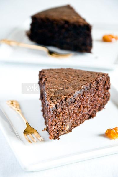 Ciasto czekoladowe z oliwą, bez glutenu