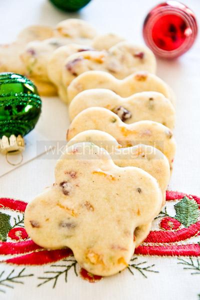 Cranberry Noels, kruche ciasteczka z żurawiną