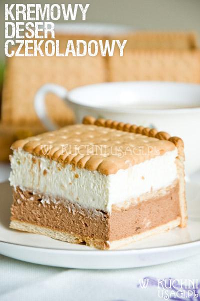 Mus czekoladowo-śmietankowy na herbatnikach