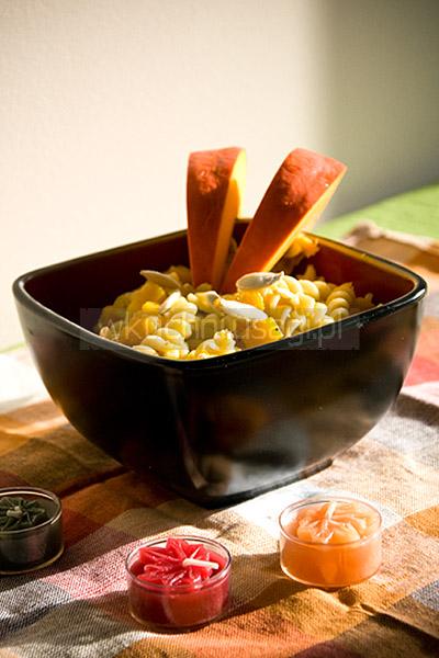 Makaron z dynią w sosie curry