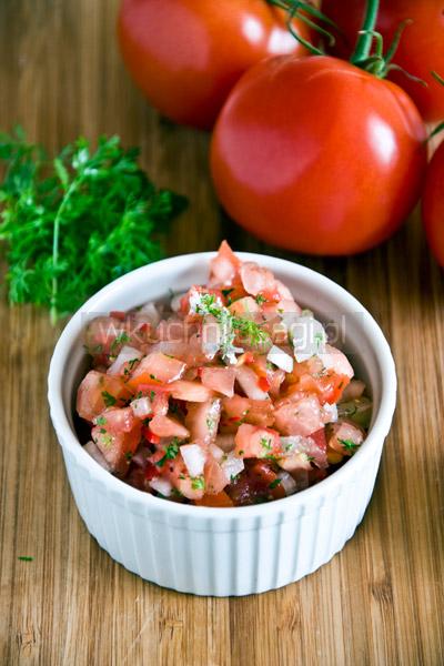 Pico de gallo, salsa, pomidory