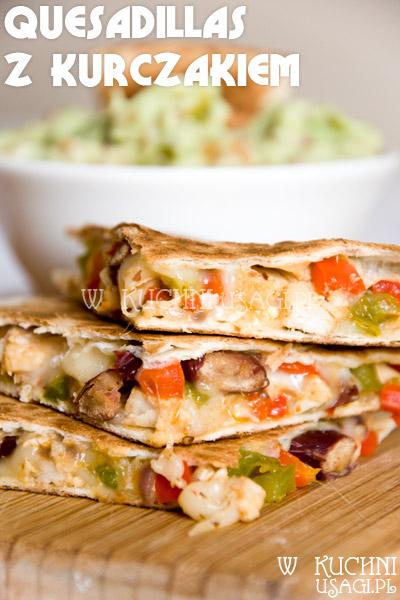 Meksykańskie quesadillas z kurczakiem