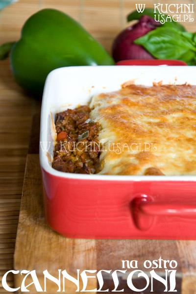 Cannelloni z mięsem na ostro