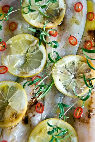 Dorsz z cytryną i rozmarynem