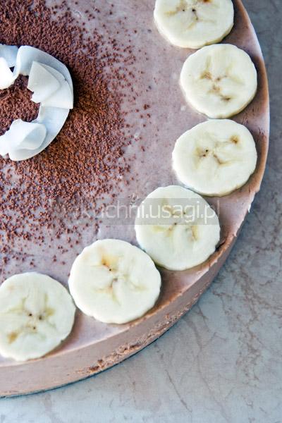 Sernik czekoladowo-bananowy na zimno