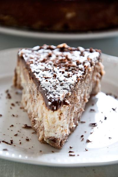 Sernik czekoladowo-kokosowy