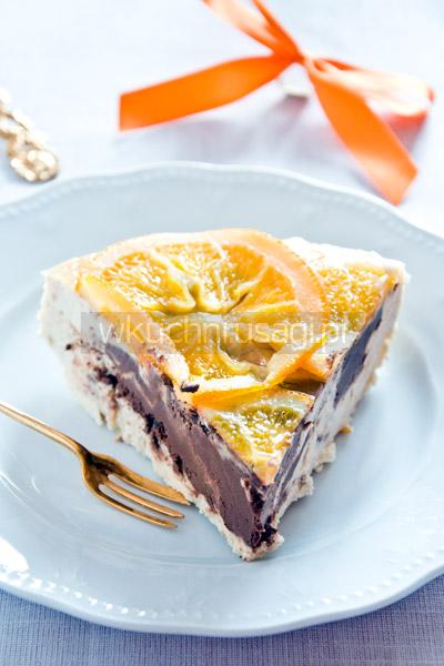 Sernik pomarańczowy z czekoladą