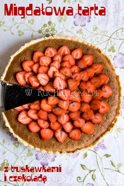 Tarta migdałowa z truskawkami