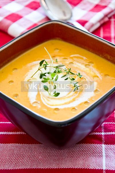Dyniowa zupa krem z soczewicą